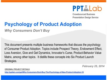 Psychology of Product Adoption (Course)