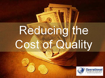 Reducing the Cost of Quality (Course)