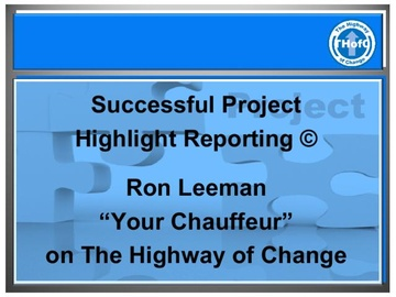 Successful Project Highlight Reporting (Course)