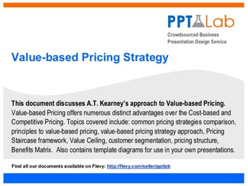 Value-based Pricing Strategy (Course)