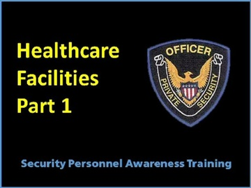 Healthcare Facilites Part 1 Sensitive Areas Course