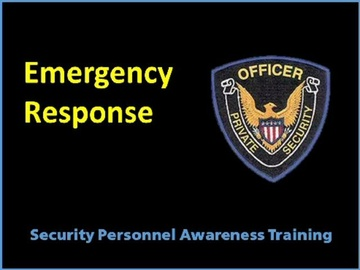 Emergency Response Plan Course