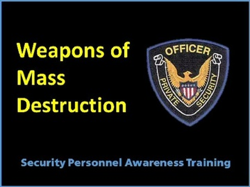 Weapons of Mass Destruction Course