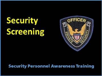 Security Screening Course