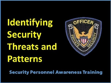 Identifying Security Threats and Patterns Course