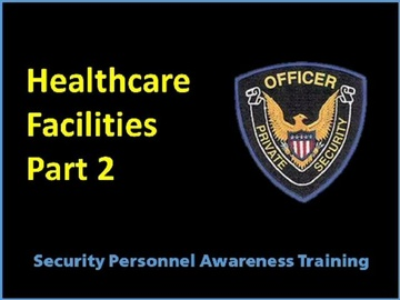 Healthcare Facilities Part 2 Course