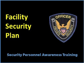 Facility Security Plan Course