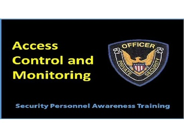 Access Control and Monitoring Course