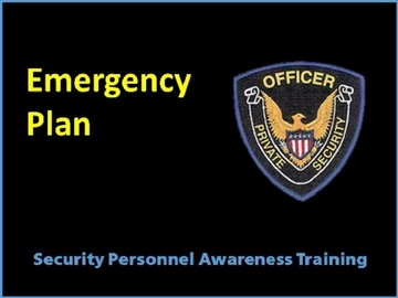 Emergency Plan Course