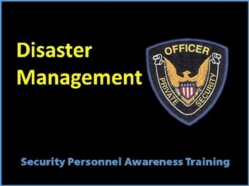 Disaster Management Course