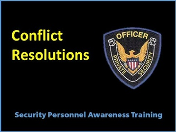 Conflict Resolutions Course