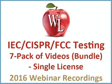 IEC CISPR FCC Testing 7-Pack of Videos (Bundle) - Single License [2016 Webinar Recording]