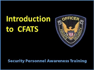Introduction to CFATS