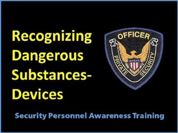 Recognizing Dangerous Substances-Devices