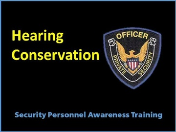 Hearing Conservation Course