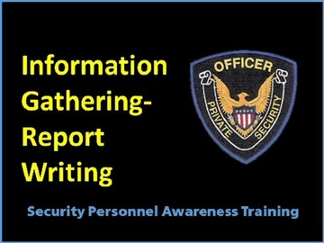 Information Gathering-Report Writing Course