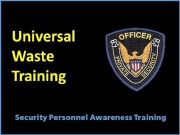 Universal Waste Training Course