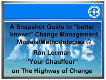 Snapshot Guide to Better Known Change Management Models/Methodologies (Course)