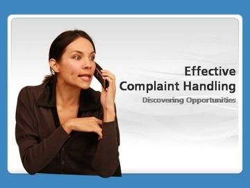 Effective Complaint Handling