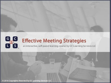 Effective Meeting Strategies Course