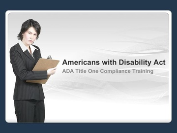 Americans with Disabilities Act - Supervisor's Version