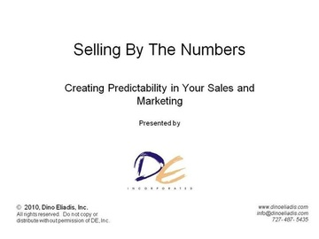 Selling by the Numbers - Creating Predictability in Your Sales and Marketing - Video