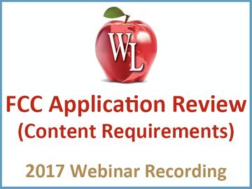 Commercial Wireless Compliance: FCC Application Review (Content Requirements) [2017 Webinar Recording]