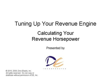 Calculating Your Revenue Engine's Horsepower
