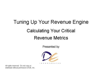Calculating Your Revenue Engine's Horsepower-Course